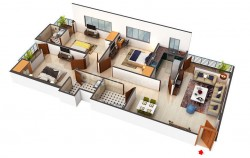 3 BHK 2 Baths Residential Flat for Sale
